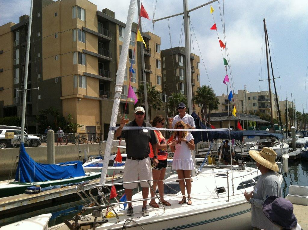 Commissioning of Our Catalina 28 Mk 2 'Calypso' in MdR in 2012